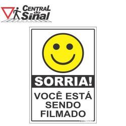 Placa - Sorria Você Está Sendo Filmado