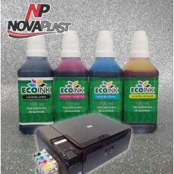 Tinta Corante para cartuchos e bulk HP - 100ml - Cores