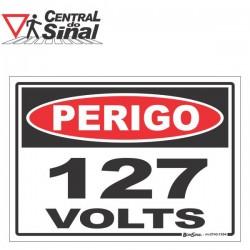 Placa - Perigo 110/127/220 volts
