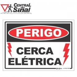 Placa - Perigo Cerca Elétrica
