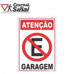 Placa - Proibido Estacionar e Variações