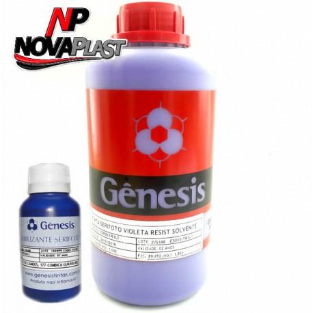 Emulsão Gênesis Serifoto Resistente à Solvente Violeta 1 Quilo
