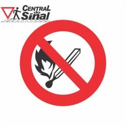 Placa Rota de Fuga P1 - Proibido Fumar